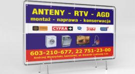 banery reklamowe oczkowane